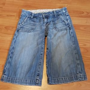 Miss Me knee length wide leg jean shorts